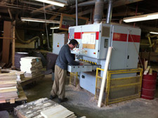 Machinist Craig Merrill Uses The Planer In Shaving Off The Water Based Glue  Once Boards Are Glued Up.
